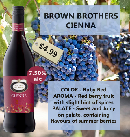 Brown Brothers Cienna 275mL 2016 Victoria