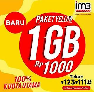Cara Daftar Paket Yellow 1GB Seharian