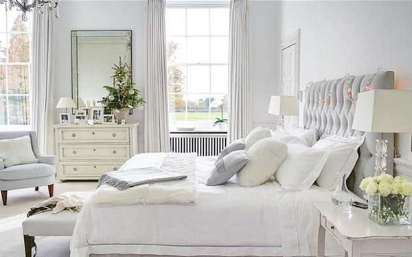 petite chambre blanc et gris