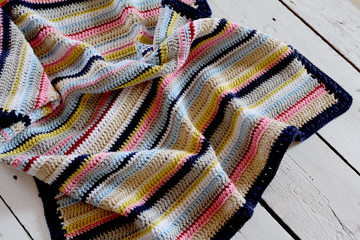 My Rose Valley Crochet Pattern Fun With Stripes Blanket