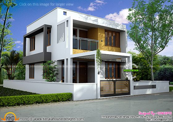 modern home elevation