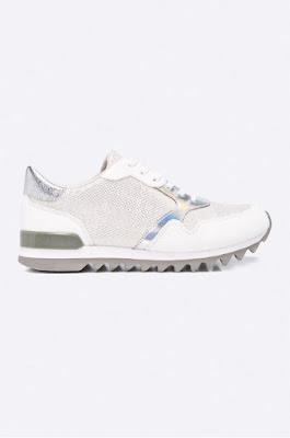 Tamaris - Pantofi  sport de femei moerni cu insertie argintie