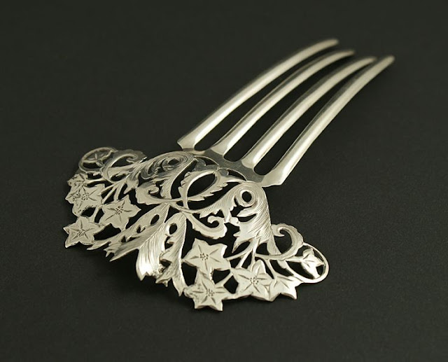 Silver Comb Pins - Different Types of Hair Clips and Pins