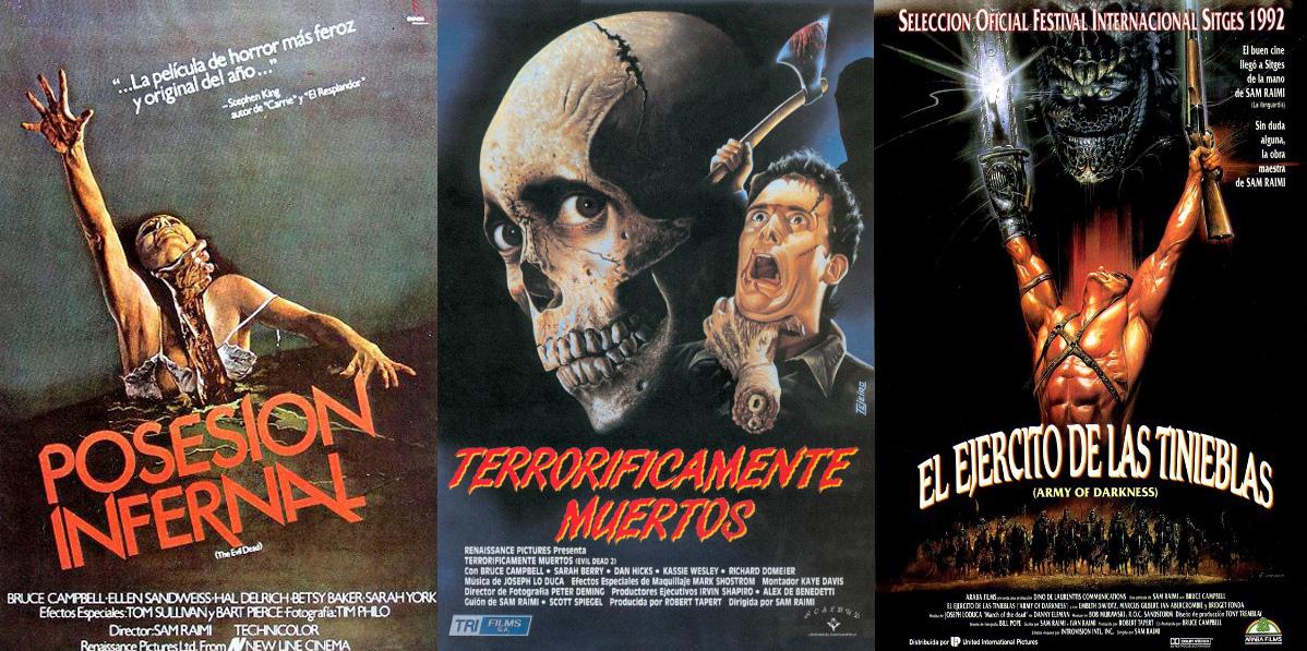 The Evil Dead: Posesión Infernal (I), Terrorificamente Muertos (II), El  ejército de las Tinieblas (III)