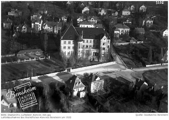 Bischöfliches Konvikt Bensheim um 1920, Stadtarchiv Bensheim, eingescannt Stoll-Berberich 2016
