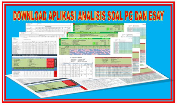Download Aplikasi Analisis Butir Soal Untuk Ulangan Harian, UTS, UAS, dan UKK Semua Jenjang