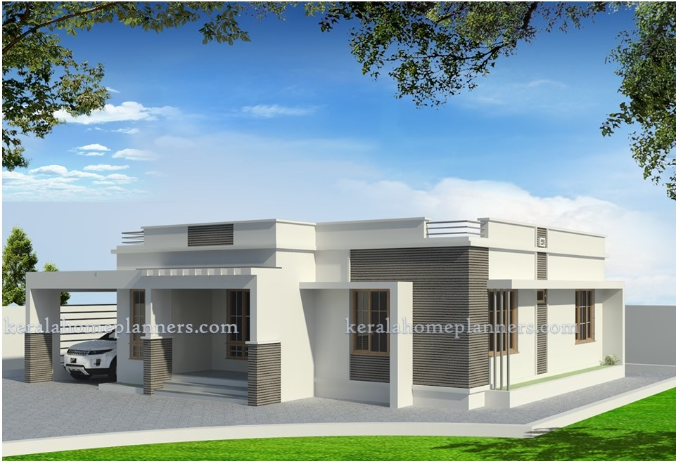 Low cost 1200 square feet 2 bedroom home design for 18 for Low cost per square foot house plans