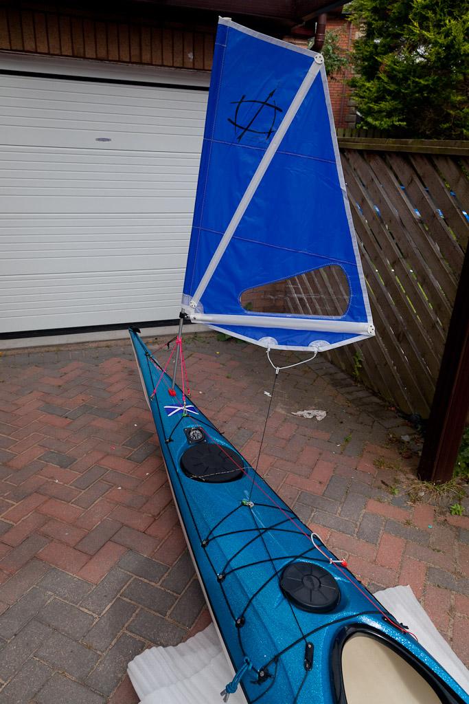 Kayak sailing back from Ailsa Craig  - The UK Rivers Guidebook