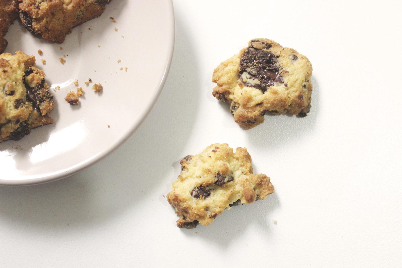 Cookies de baunilha com Gotas de Chocolate