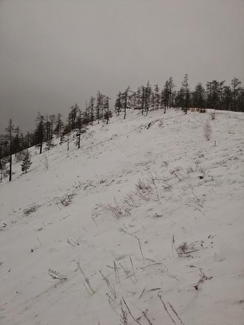 У вершины горы Егоза