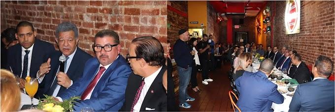 Leonel se reúne con empresarios en restaurante del Alto Manhattan en coctel de apoyo económico a su candidatura
