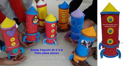 Estojo foguete de E.V.A