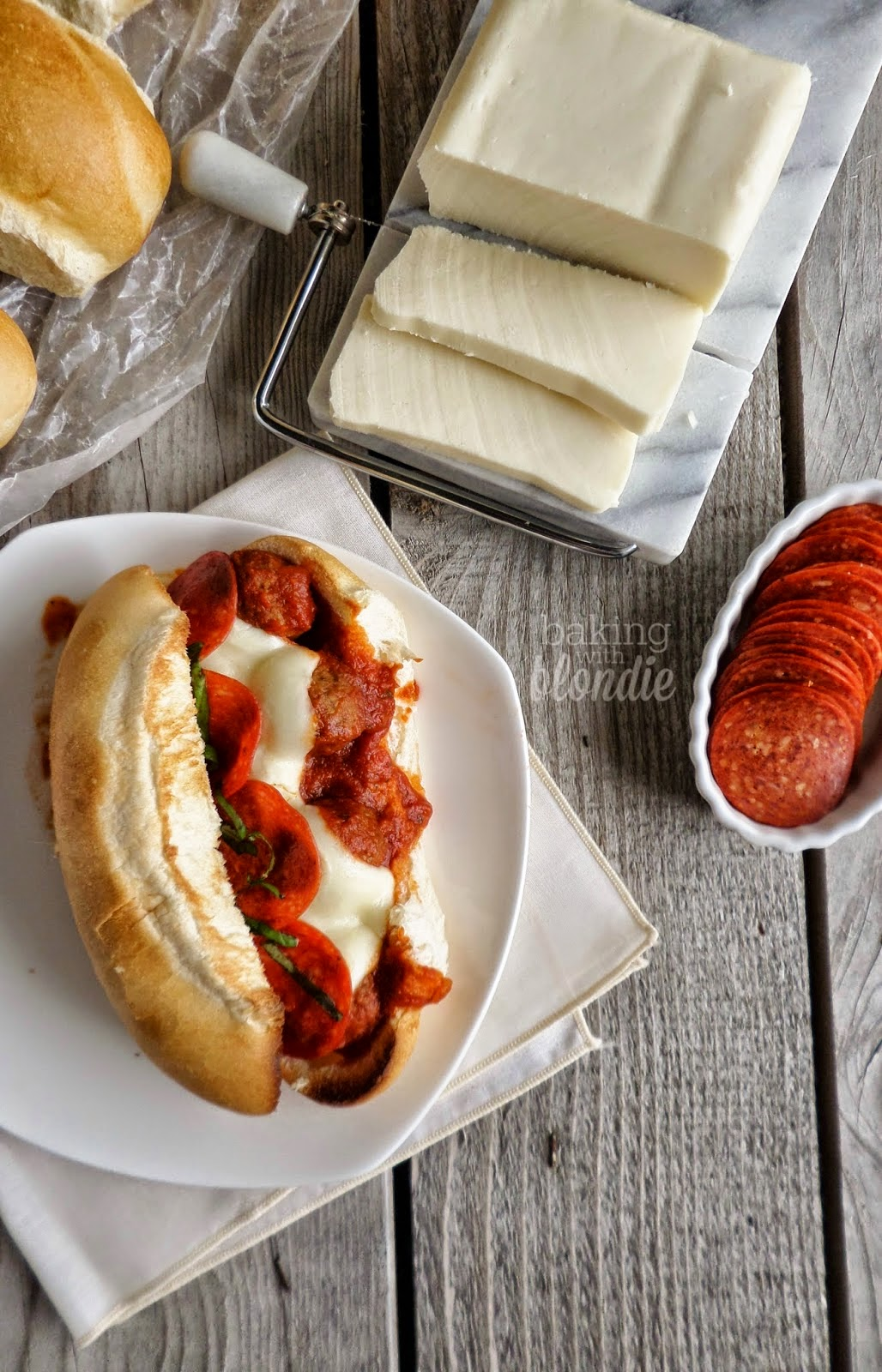 Toasted Pizza Meatball Subs