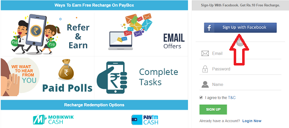 sign up to earn free paytm cash