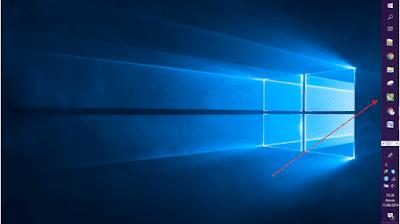 Gambar ilustrasi memindahkan letak posisi taskbar di windows 10
