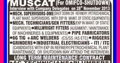 OMIFCO Muscat & KOC Kuwait Job Vacancies ~ Gulf-Jobs-Malayalees