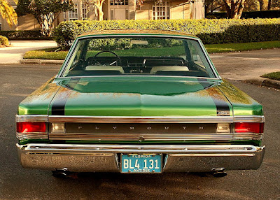 1967 Plymouth GTX 440 Magnum Sports Coupe Rear