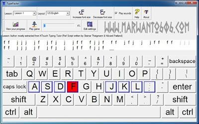 Cara Mengetik 10 Jari TypeFaster Typing Tutor