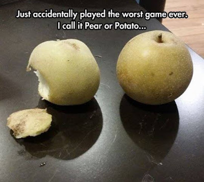 Just accidentally played the worst game ever. I call it Pear or Potato
