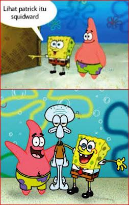 contoh gambar komik spongebob