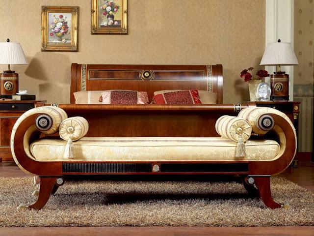 Mẫu đôn giường bọc da được làm bằng gỗ thịt cao cấp siêu bền bỉ