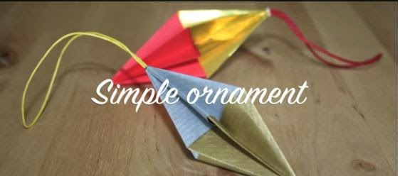 Tutorial ornament de Craciun din modele origami