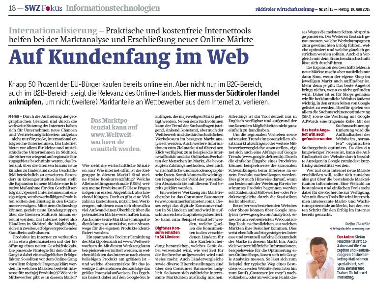 Online Handel Südtirol