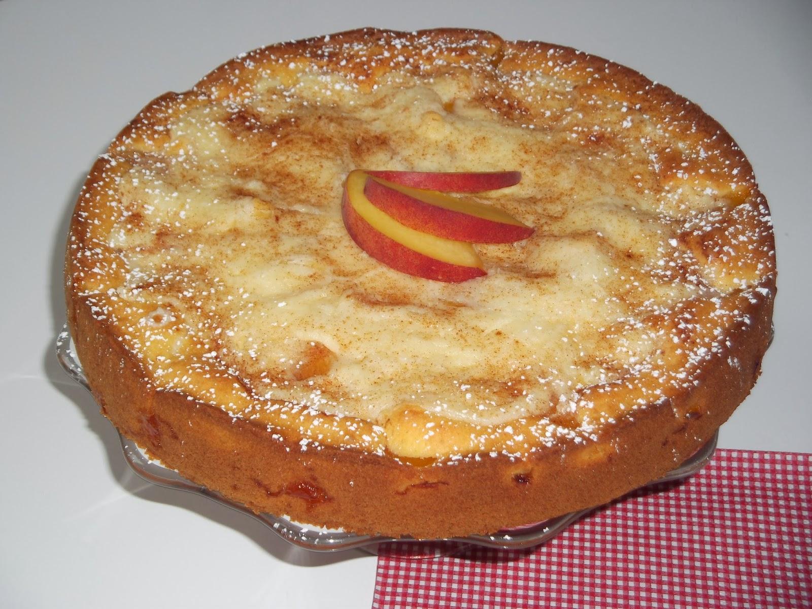 Linda S Ofen Pfirsich Pudding Kuchen