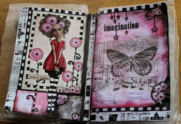 Trying To Imagine Art Journal Pages by Tori Beveridge