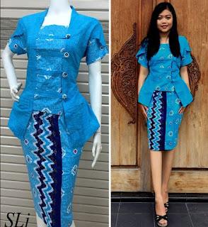 Model-Baju-Batik-Setelan-untuk wanita karir