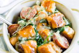Sweet Potato Gnocchi #withacreamy #vegansauce