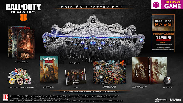 No te pierdas la Mystery Box de Call of Duty Black Ops 4 que nos ofrece GAME