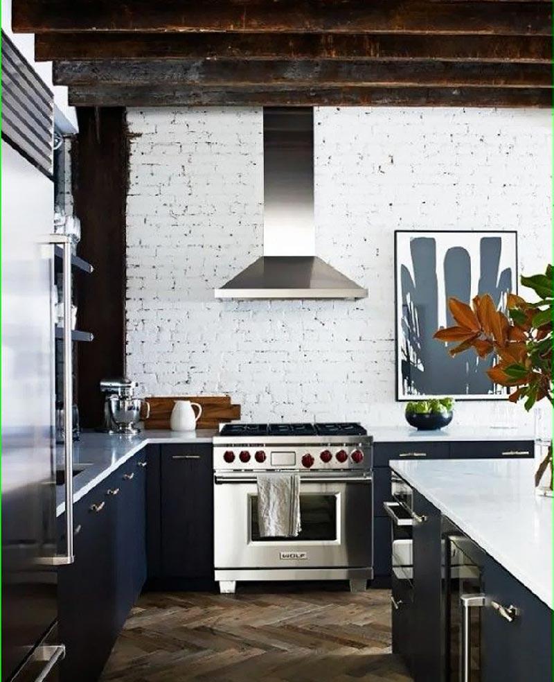 Per la cucina pareti di mattoni a vista dettagli home decor - Cucina in mattoni faccia vista ...