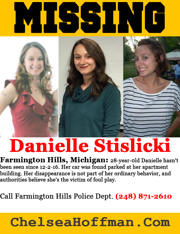 Michigan: Danielle Stislicki missing Dec. 2, 2016