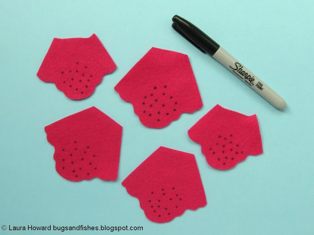 add dots to the foxglove petals