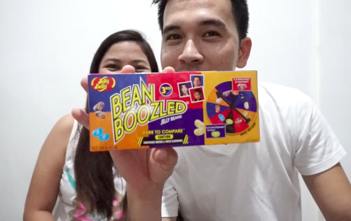 couple does bean boozled challenge