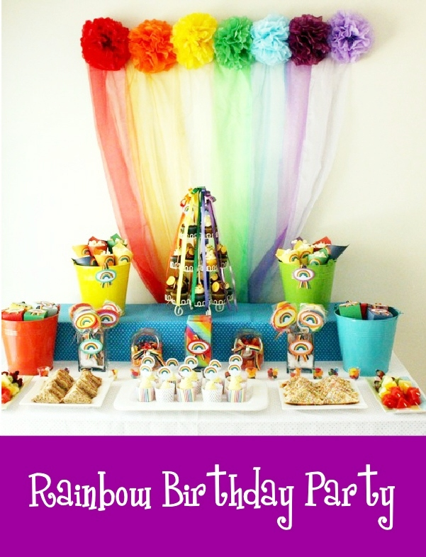 Rainbow Party and DIY Desserts Table Styling - BirdsParty.com