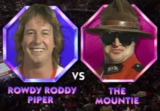 WWF ROYAL RUMBLE 1992 - Rowdy Roddy Piper vs. The Mountie for the Intercontinental Championship