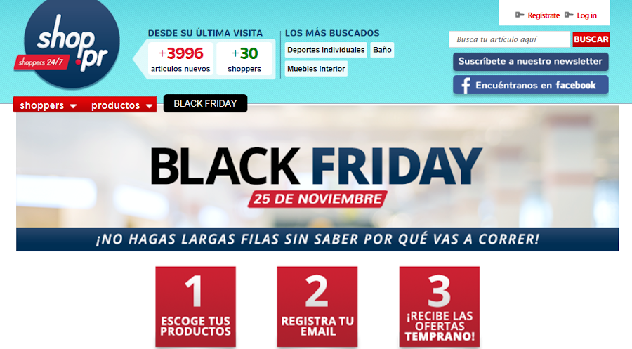 pagina internet shop pr black friday