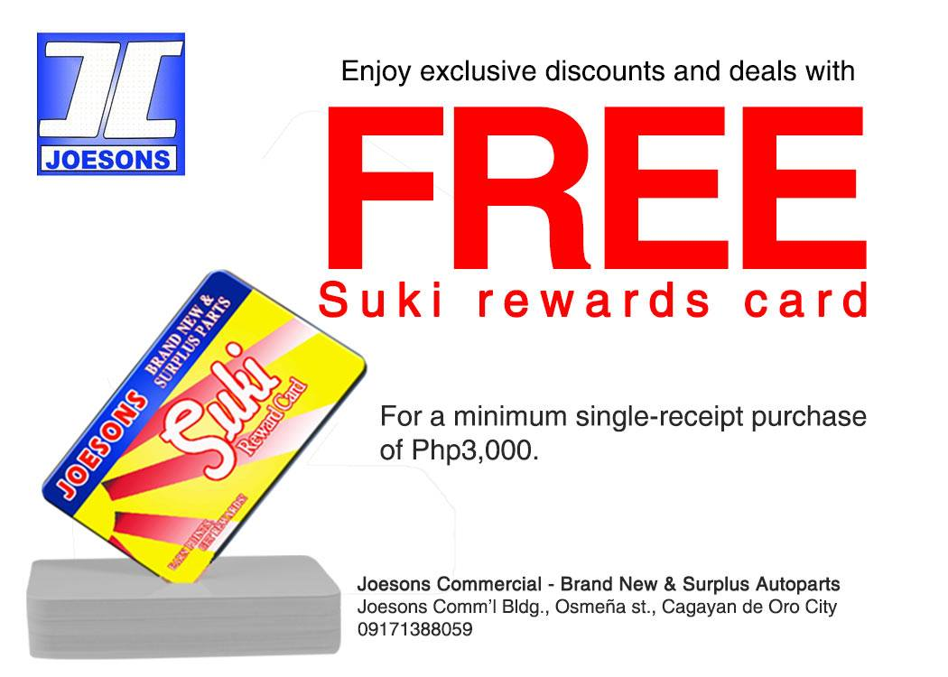 Joesons Commercial Released Exciting Redeemable Suki Rewards Prizes