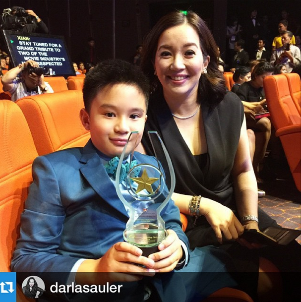 Bimby Yap with Kris Aquino at the 31st Star Awards for Movies