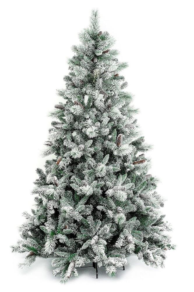 xone gardena Xone Gardena, albero di Natale artificiale innevato con pigne da 240 cm o 270 cm