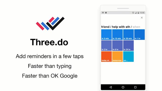 تحميل تطبيق Three.do الذي يذكرك بالمهام التي تريد القيام بها بشكل ذكي و بسيط