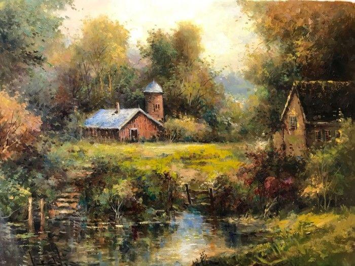 Пейзажи в буколическом (сельском) стиле. W. Eddie