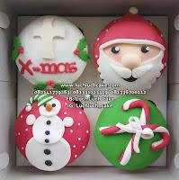 Cupcake Fondant 2d Christmas Promo Surabaya - Sidoarjo