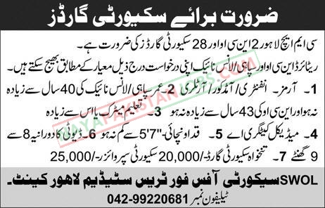 Latest Vacancies Announced in CMH Lahore Cantt 28 October 2018 - Naya Pakistan