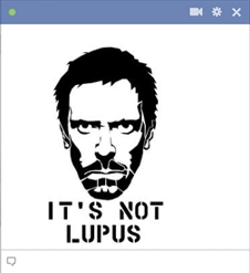 Dr House lupus emoticon