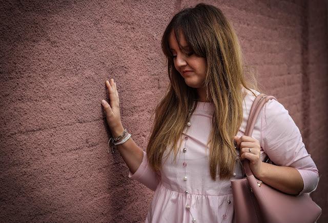 New Look pink smock dress