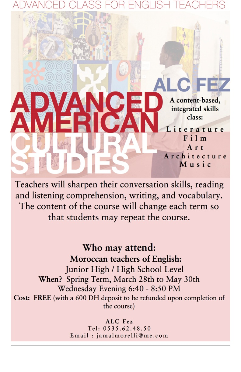 A Free Course in Fez - Advanced English for Moroccan Teachers