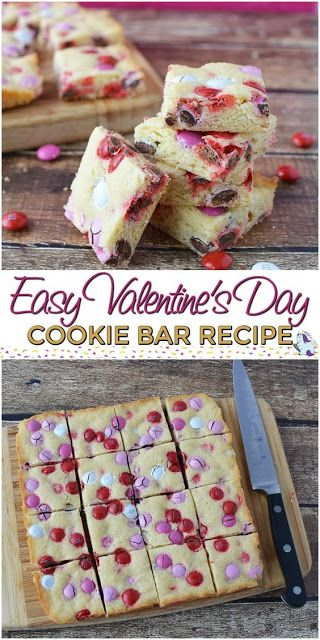 Easy Cookie Bar Recipefor Valentine's Day
